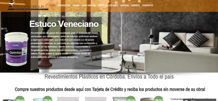 Rediseñamos Web de ProcorGroup y agregamos E-commerce